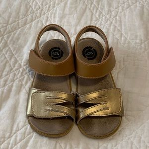 Gold Sandals by Livie & Luca